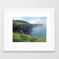 irish Framed Art Prints featuring Irish Coast  by Tru Images Photo Art