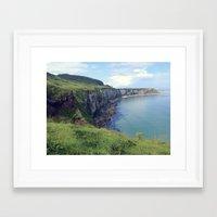 irish Framed Art Prints featuring Irish Coast  by Tru Artwear
