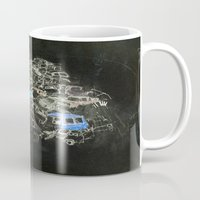 cars Mugs featuring Cars by Alyssa Dennis