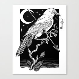 Night Crow Leinwanddruck