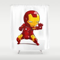 ironman Shower Curtains featuring IRONMAN by MauroPeroni