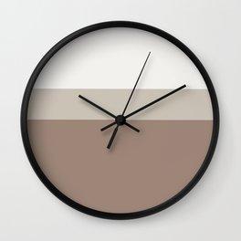 Minimal Abstract Neutral Ambiance 01 Wall Clock