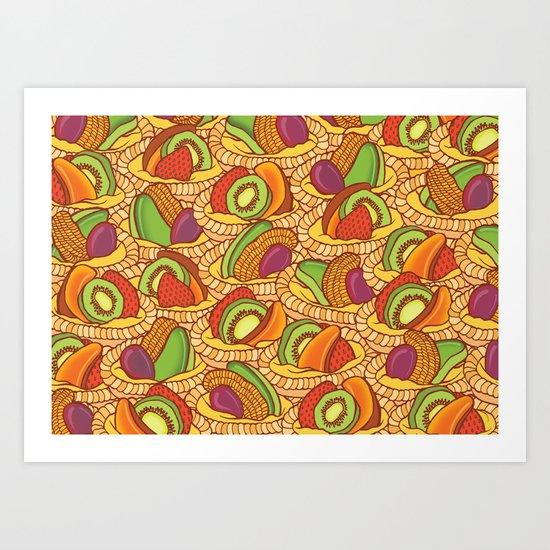 Fruit Flans Art Print