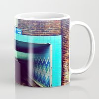 subway Mugs featuring Subway by Efua Boakye