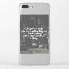 Blessed Beauty In Humble Places Clear iPhone Case