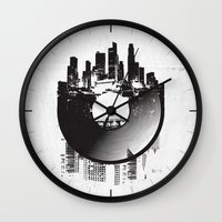 deadmau5 Wall Clocks featuring Urban Vinyl by Sitchko Igor