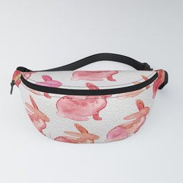 Watercolor Bunnies 1F by Kathy Morton Stanion Fanny Pack