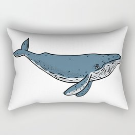 Humpback Whale Color Drawing Rectangular Pillow