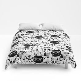 Cats Everywhere Comforters