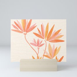 Basking In The Summer Sun / Japanese Botanical Woodblock Mini Art Print