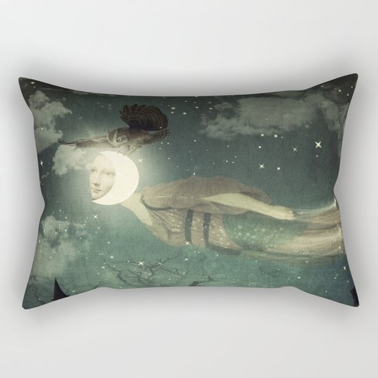 The Owl That Stole the Moon Rectangular Pillow