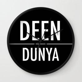 Deen Over Dunya x White Wall Clock
