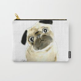 Sitting Pug Carry-All Pouch