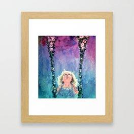 Watercolor girl Framed Art Print