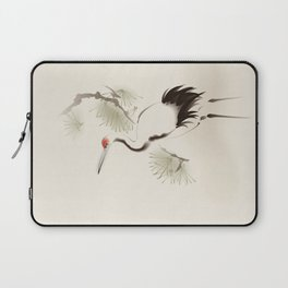 Oriental Red-Crowned Crane 002 Laptop Sleeve