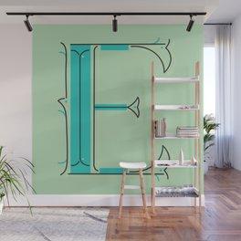 Drop Cap E - decorative letter - typography - monogram - capital Wall Mural