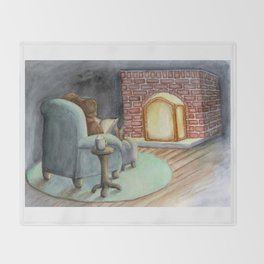 Cozy House Mouse Throw Blanket