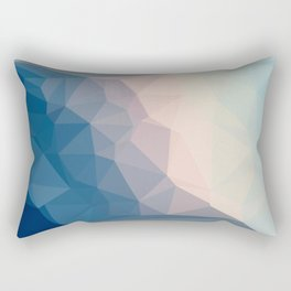 BE WITH ME - TRIANGLES ABSTRACT #PINK #BLUE #1 Rectangular Pillow