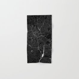 Nashville Black Map Hand & Bath Towel