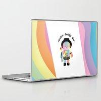 bondage Laptop & iPad Skins featuring Royal Hippie Rainbow Bondage Bear Full 2.0 by YOSH FRIDAY