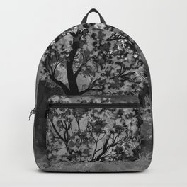 The Deer in the Forest (Black and White) Backpack