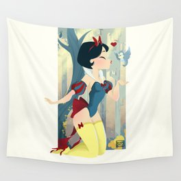 Snow White Pin Up Wall Tapestry
