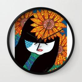 Sunny Girl Wall Clock