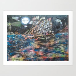 Affair of the seas Art Print