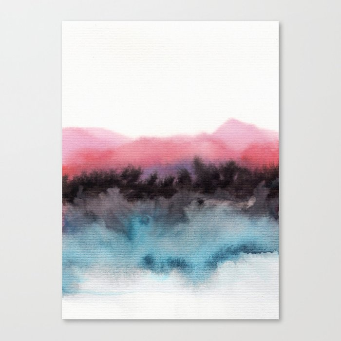Watercolor abstract landscape 10 Canvas Print
