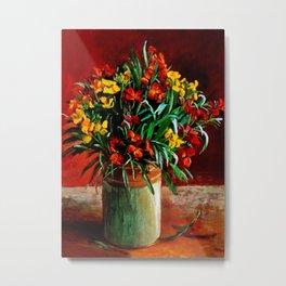 """""""Wallflowers"""" by Margaret Olley Metal Print"""