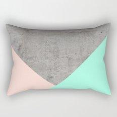 Concrete Collage Rectangular Pillow