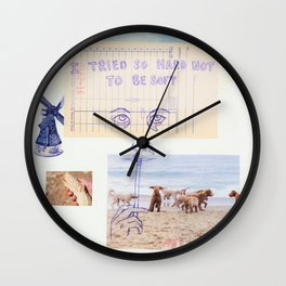 to be soft Wall Clock