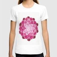succulent T-shirts featuring Pink Succulent by Give me Violence