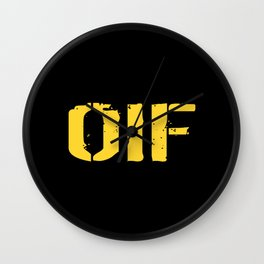 U.S. Military: OIF Wall Clock