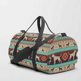 Boho dogs   Boxer sunset Duffle Bag
