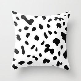 Dalmatian dog spot Throw Pillow