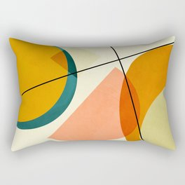 mid century geometric shapes painted abstract III Rectangular Pillow