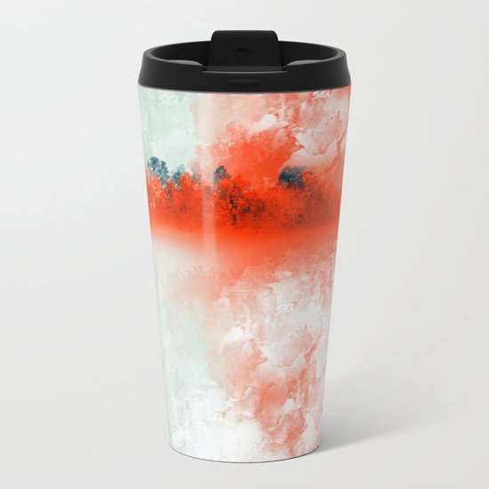 Frosted to Red Metal Travel Mug