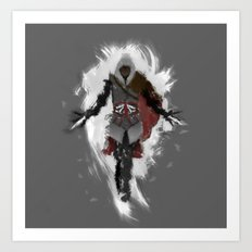 Assasins Grey Art Print