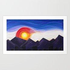 Denver Sunset Art Print