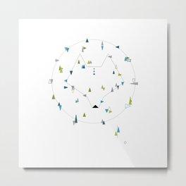 wolf. geometric Metal Print