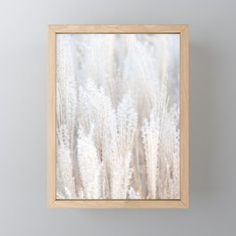 Pampas Grass Beige Neutral Color Framed Mini Art Print