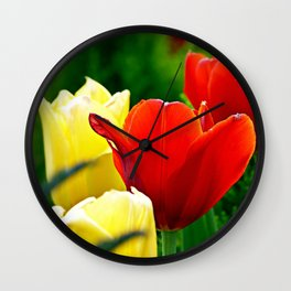 Tulips From the Square Wall Clock