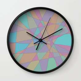 Shattered Turquoise & Pink Wall Clock