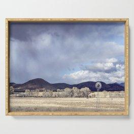 """Purple Hills Horizon"" by Murray Bolesta! Serving Tray"