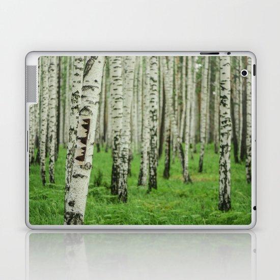 Forrest of white trees Laptop & iPad Skin