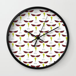 Angry White Bird Wall Clock