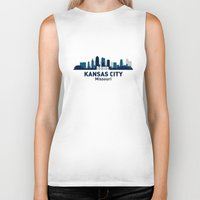 kansas city Biker Tanks featuring KANSAS CITY HOME by Random Acts of Design