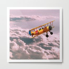 Busy Boy | Yellow Metal Print
