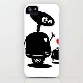 Robot Heart to Heart iPhone Case